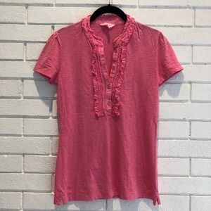 Lilly Pulitzer Pink krista polo Small